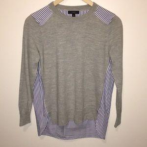 J. Crew Sweaters - J Crew Mixed Media Merino Wool Sweater
